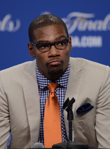 Oklahoma City Thunder's Kevin Durant spe